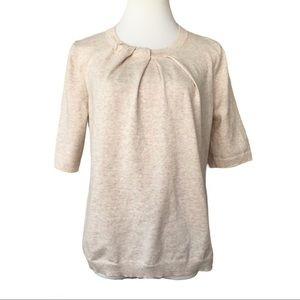 Ann Taylor Factory Pale Pink Pleated Knit Top